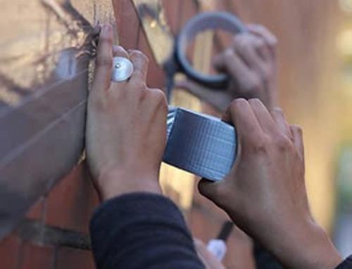 Tape-Art-Workshop für Studenten