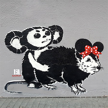 loving disney-tscheburaschka- stencil-streetart-Ostap-2014-2017- Vorschaubild