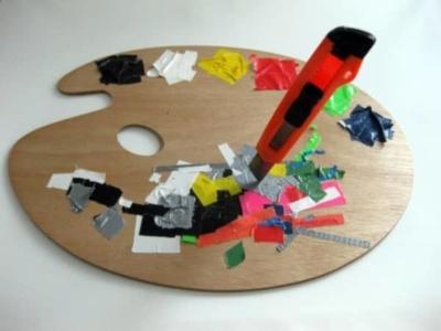 Tape-Art-Farbmischpalette des Künstlers-2012