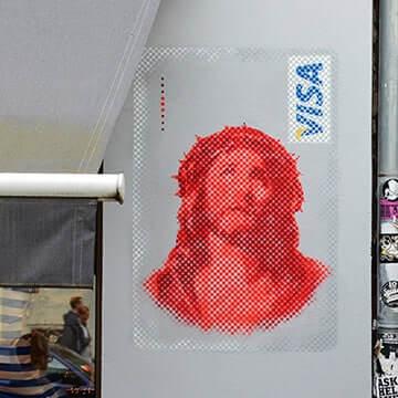 Jesus-VISA-Karte-Street-Art-Ostap-2014-Vorschaubild