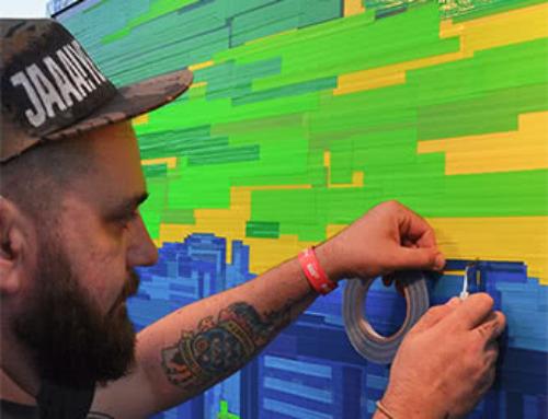 Live Tape Art im Roten Rathaus