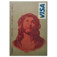 Jesus VISA - Stencil Spray Art Canvas- featured image