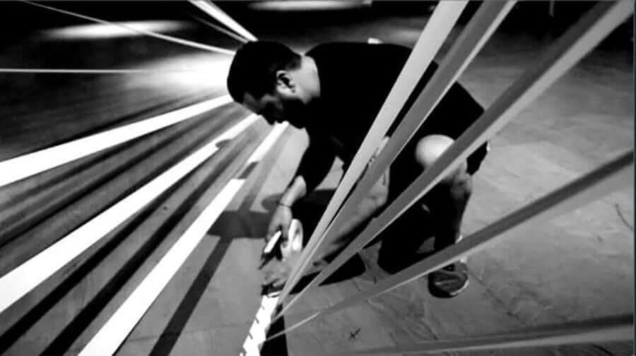 Dancing-Tape-art-performance-Ostap-artist-2015