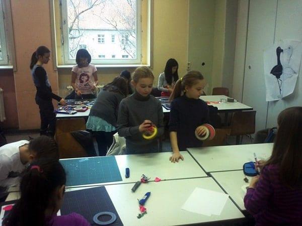 Tape-Art Workshop Berliner Bear 5 Klasse