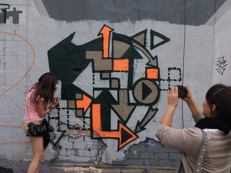 Pfeile- Abstraktes Graffiti Kunstwerk- Ostap-Berlin 2013