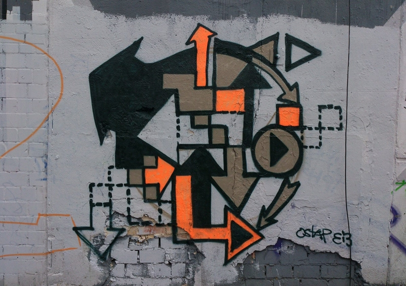 Arrows-Abstract graffiti piece- Ostap 2013
