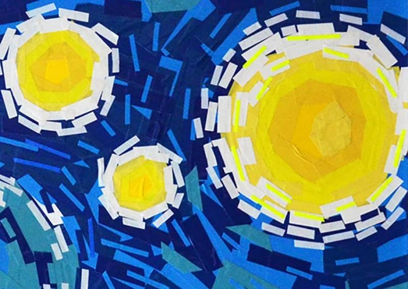 Berliner-Sternennacht-Van-Gogh-Ostap-tape-art-Nahaufnahme