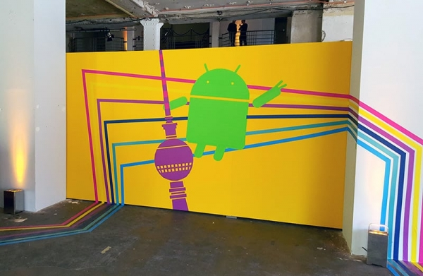 Tape art commission- guidance- Google Play Event- Selfmadecrew 2015