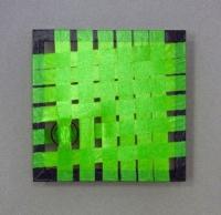 Grüne Konstruktion- Abstraktes Kunst- Gewebtes Klebeband- Vorschaubild
