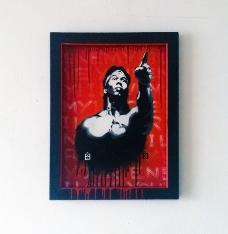 I love your enemy-Stencil art-Bolo Yeung Portrait-Ostap-2013