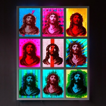 OMG-jesus pop art- packband kunst-Ostap 2014