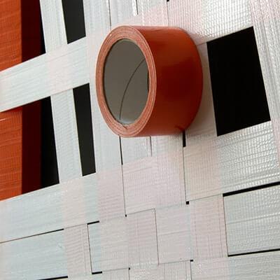 Orange Struktur-Abstraktes Gewebtes Tape-Art-Vorschaubild