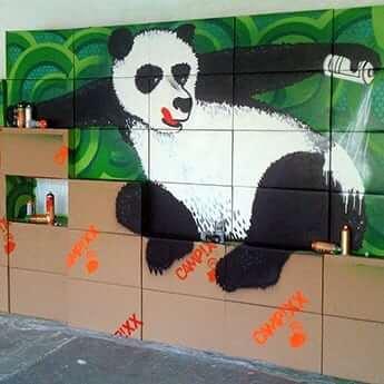 Panda Update-Indoor Graffiti-Auftrag-Vorschaubild