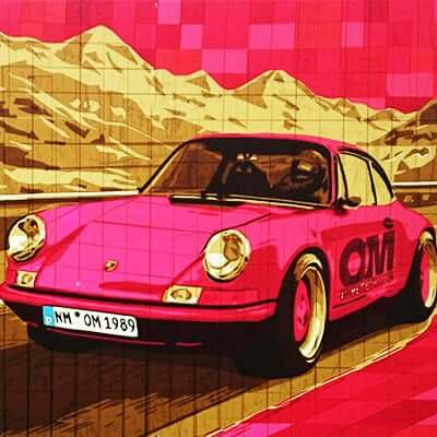 Porsche 911-Paketklebeband-Kunstwerk-Tape-art-Auftrag-Ostap 2015-Vorschaubild