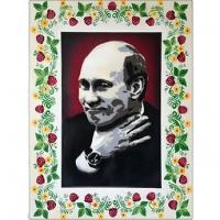 W Putin pop spray art portrait-featured image