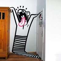 Scream-3d tape graffiti by ostap-2012-featured image