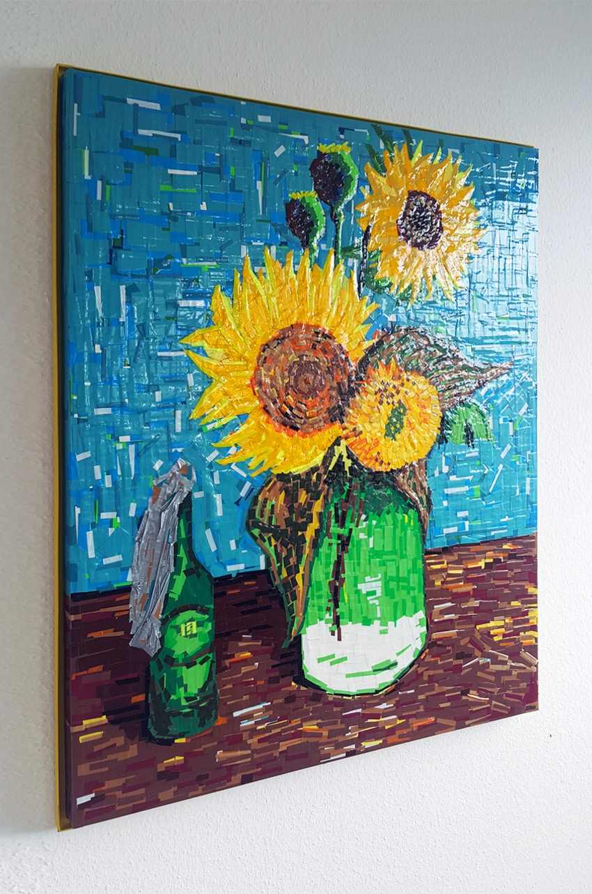 "Beitragsbild 2- ""Still Unrest"" (Sunflowers) Van Gogh & Ostap- tape art"