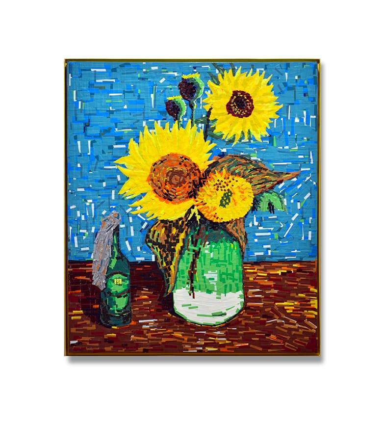 """Beitragsbild 2- """"Still unrest"""" feat. Van Gogh- Tape Art von Ostap, 150x120 cm. 2015"""