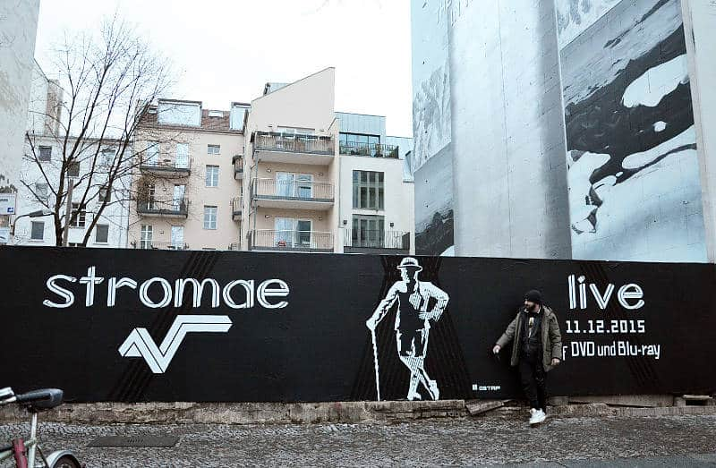 Tape street art for Stromae- Berlin 2015- by Ostap