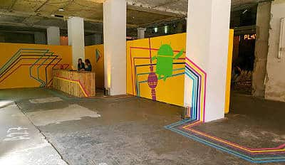 Titelbild- Tape art for brand- Google Play Time in Berlin