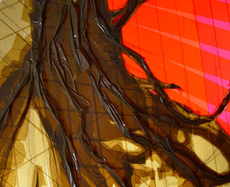 closeup-feel-woman-portrait-packing-tape-art-ostap-2014