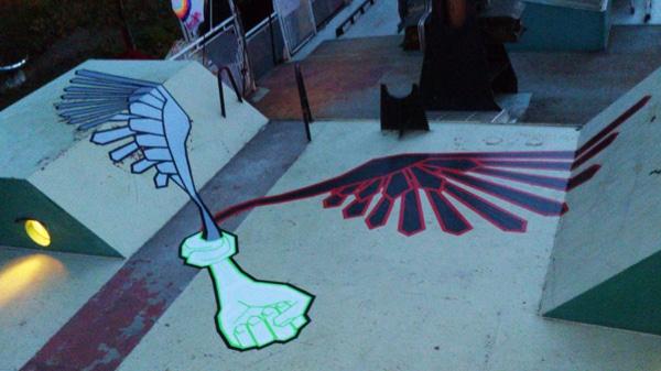 Bodenmalerei-tape-art