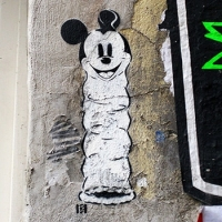 Loving Disney-Mickey Mouse- stencil street art- Ostap 2015