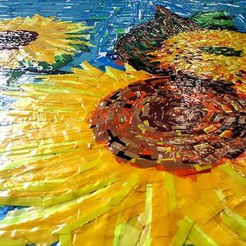 Sonnenblumen- Still unrest feat Van Gogh- GAFFA Tape Art-Miniaturbild