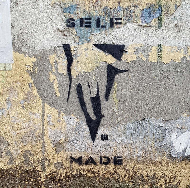 "Street art in Berlin- ""SELFMADE"""