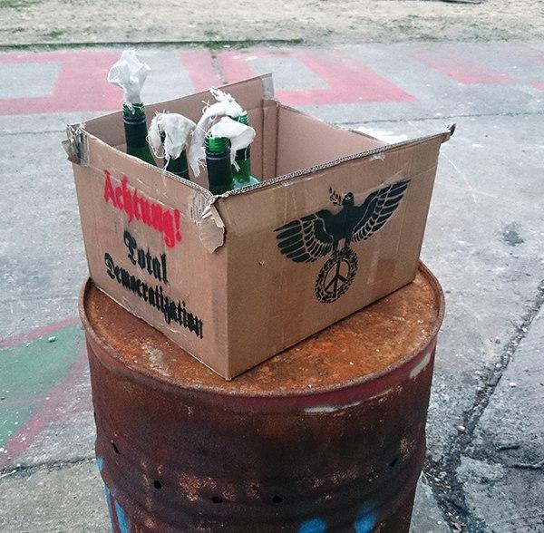 """Total Democratization"" - street art installation"