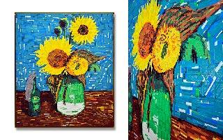 Sonnenblumen-Still unrest feat Van Gogh- GAFFA Tape Art-Miniaturbild
