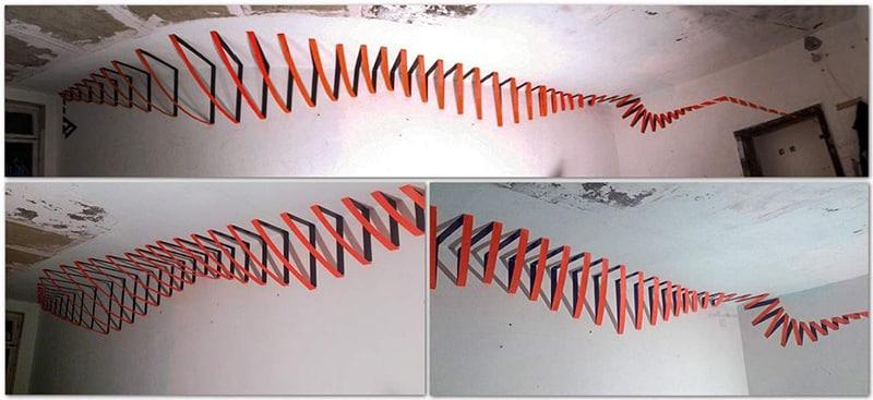 """3D Klebeband Graffiti- """"Bewegung (Spirale)"""""""