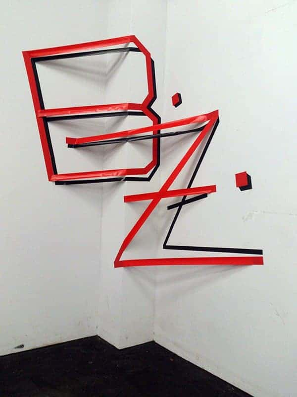 Tap art 3D graffiti for BZ