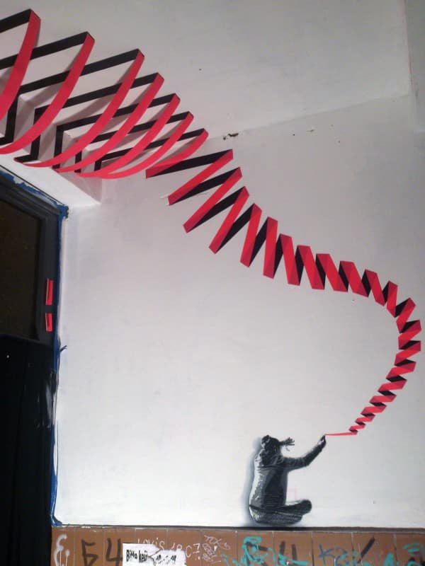 Tape-Art 3D Graffiti Mein Weg
