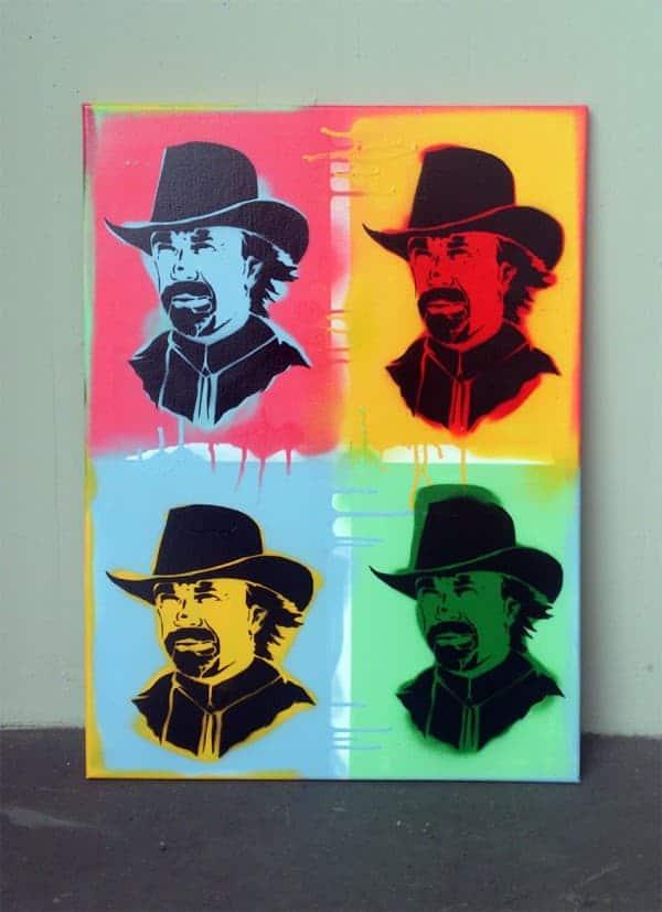 Tape-Art Chuck Noris Pop Art