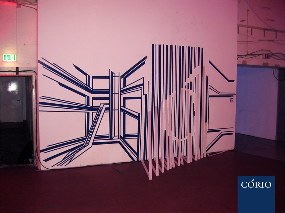"3D tapeart installation for ""CORIO"""