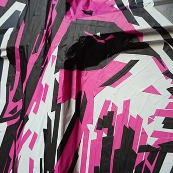 3D-Tape-Art-Auftrag-Ethical Fashion Show 2014