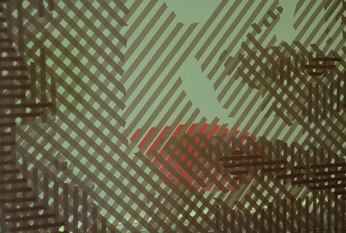 Op Art out of packing tape- Closeup 02