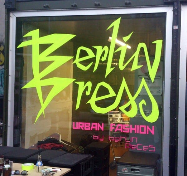 Post image- Tape graffiti- commission for Berlin Dress Show & Berlinpieces