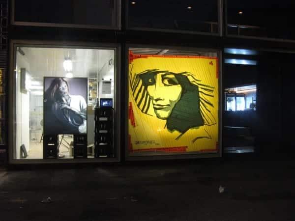 "Tape art graffiti at ""PLATOON"" Gallery"