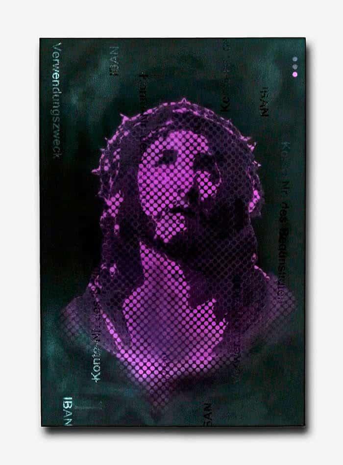 """""""Indulgenz""""- Jesus Graffiti Pop Art Gemälde auf Leinwand"""