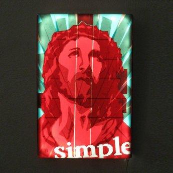 Bild-02-Jesus-Porträt-Pop-Art-Ikone-Paketklebeband-Kunstwerk-Diptych-Ostap-2013