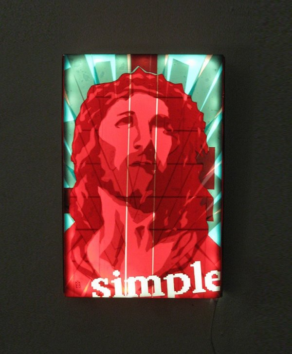 Packing-tape-Jesus-Portrait-Pop-art-Ostap-2013