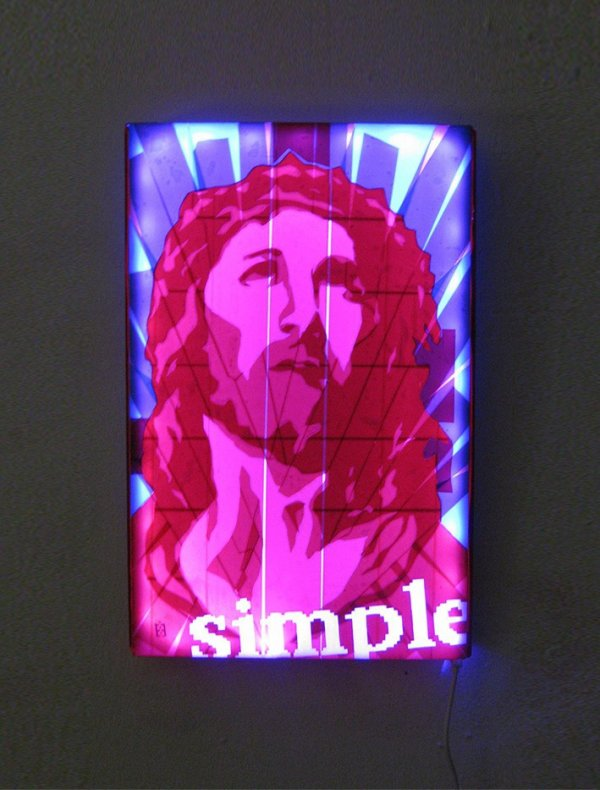 Packing tape art-Jesus Portrait- Pop art by Ostap