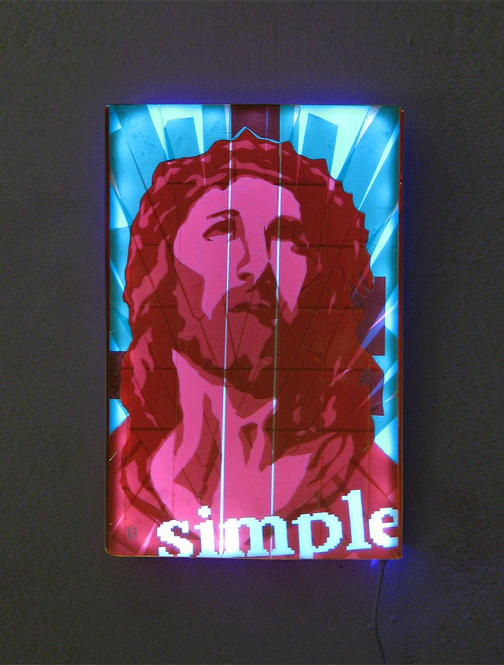 """Simple pop"" (Jesus)- Tape Art"