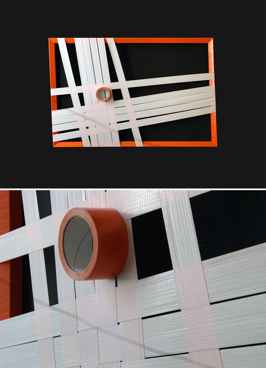 Tape-Art Orange