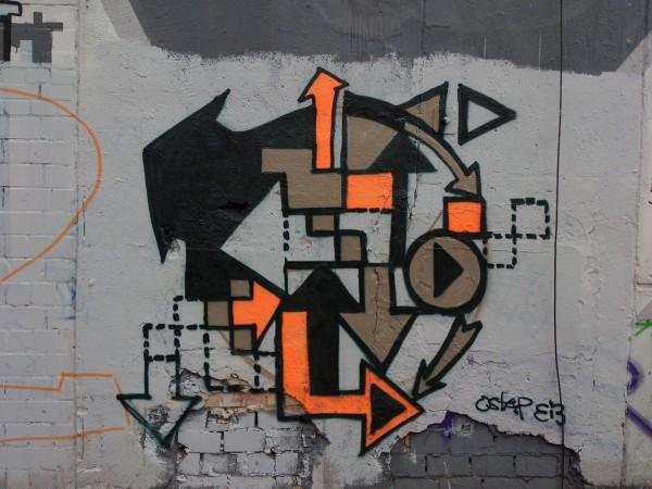 """""""Pfeile""""-Tape-Art Graffiti von Ostap"""