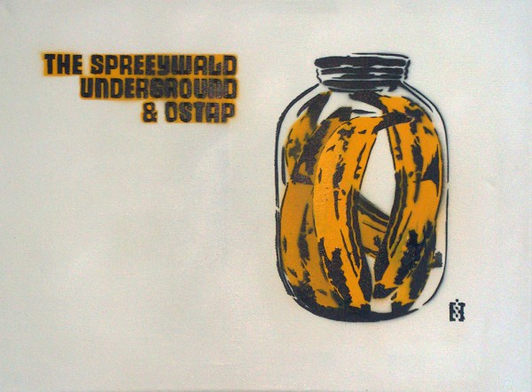 Banana can (Spreewald Underground)- Stencil Art by Ostap