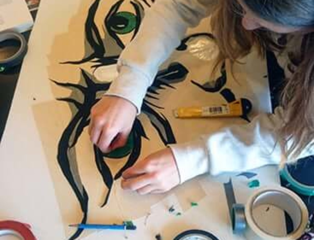 Tape Art Workshop at FEZ Berlin