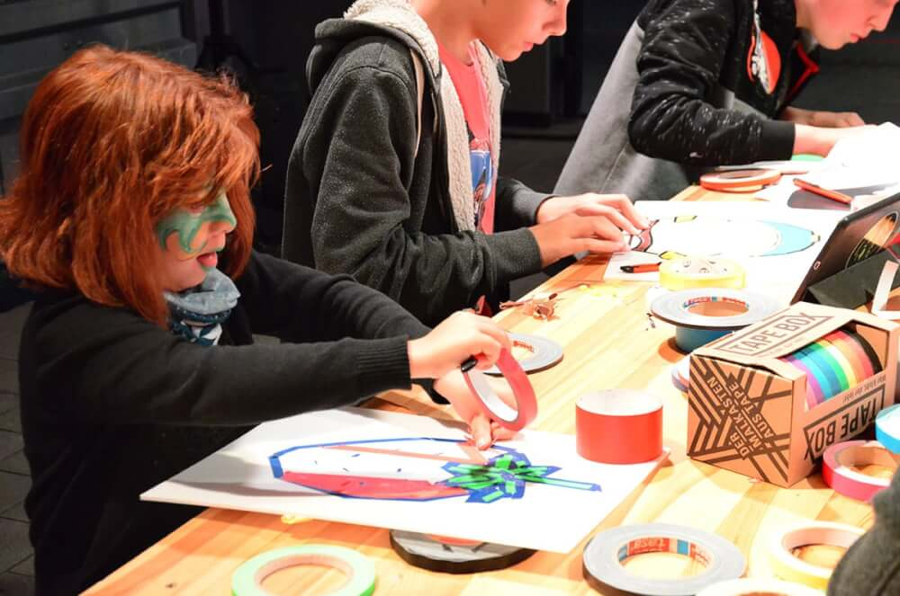 Tape-art-workshop-A young talent can be recognized immediately